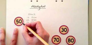 Räkna med hastighet, tid och sträcka för åk. 4-6